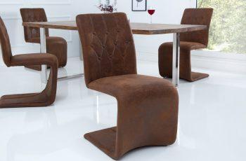Stolička Victorian vintage hnedá