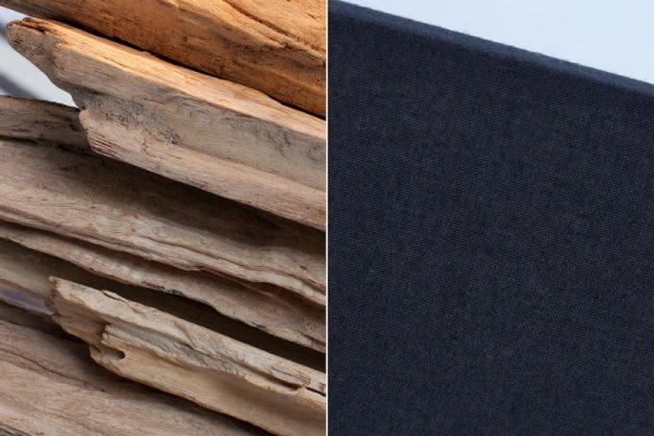 Stolová lampa - naplavené drevo Riverine II čierna