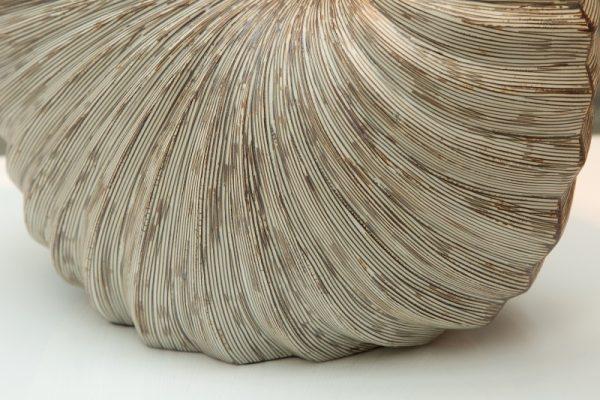 Stolová lampa Muschel biela