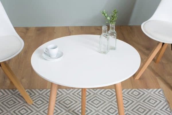Biely konferenčný stolík Scandinavia 60cm