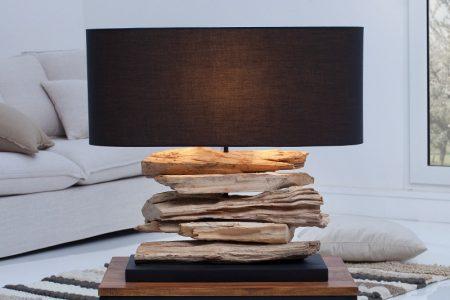 Čierna stolová lampa Riverine II »