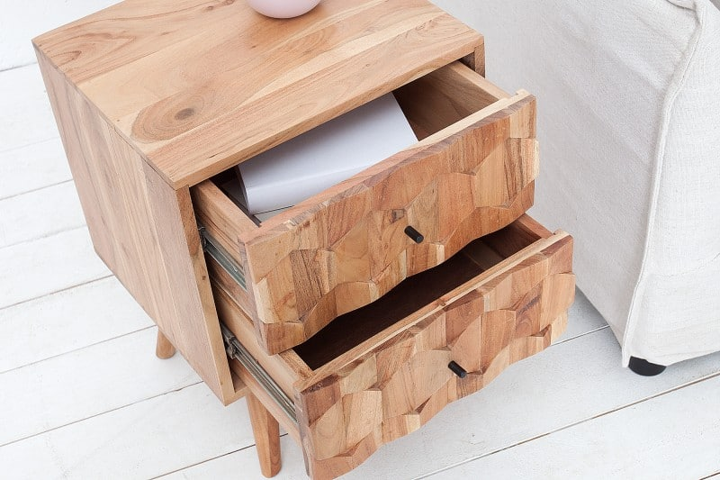 Drevený nočný stolík Mystic 35 x 40 cm »