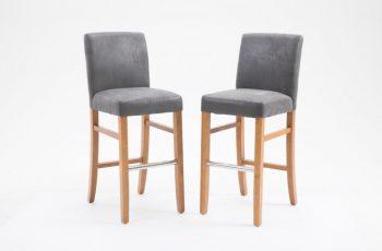 Barová stolička Valentino sivá Vintage