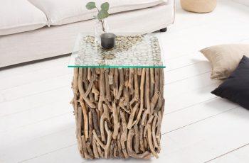 Konferenčný stolík Fossil 40cm naplavené drevo