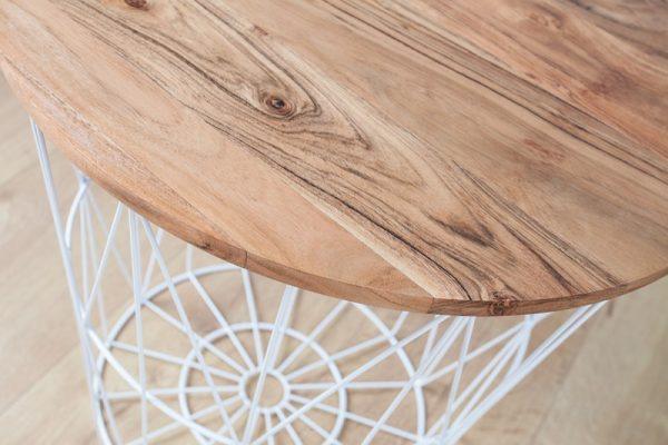 Konferenčný stolík Storage 42cm biela agát