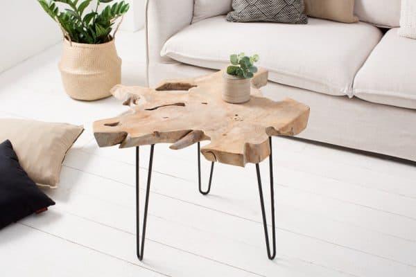 Konferenčný stolík Wild 60cm teakové drevo