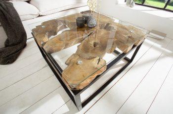 Konferenčný stolík teakové drevo Root teakové drevo Industrial