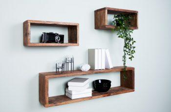 Nástenný regál Hemingway set 3ks recyklované drevo