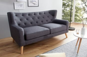 Sofa Hygge dvoják 145cm antracit