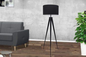 Stojanová lampa Tripod čierna