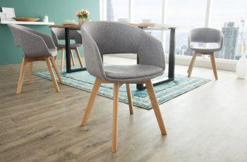 Stolička Nordic Star sivá dub