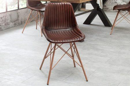Stolička Toro hnedá (prešívanie) Leder