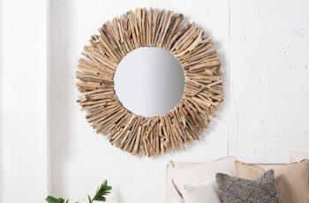 Zrkadlo Driftwood 80cm teakové drevo rund