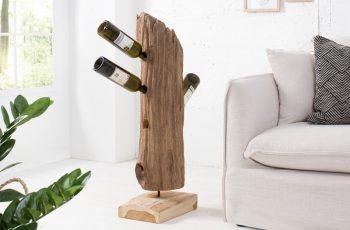 Regál na víno Barracuda 90cm teakové drevo