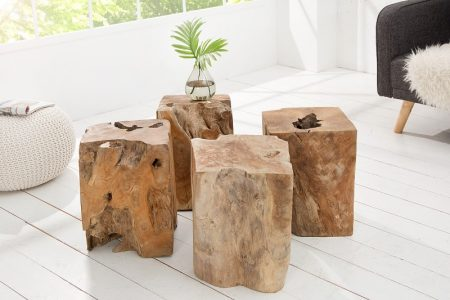Taburet Wood 45cm - teakové drevo