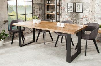 Jedálenský stôl Iron Craft 160cm prírodná Mango