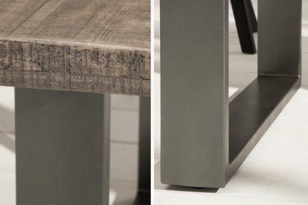 Jedálenský stôl Iron Craft 180cm sivá Mango