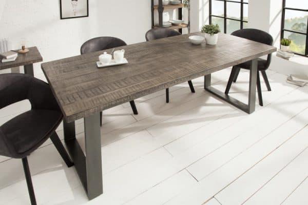 Jedálenský stôl Iron Craft 200cm sivá Mango