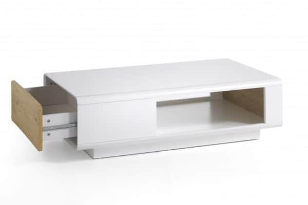 Konferenčný stolík Corin 110cm biela dub