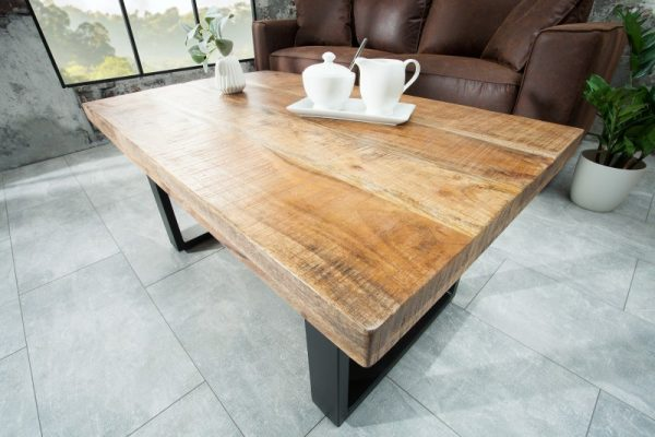 Konferenčný stolík Iron Craft 100cm prírodná Mango