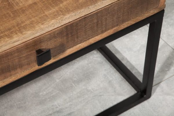 Konferenčný stolík Iron Craft 115cm Mango Schublade