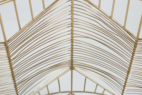 Konferenčný stolík Storage 36cm zlatá sivá