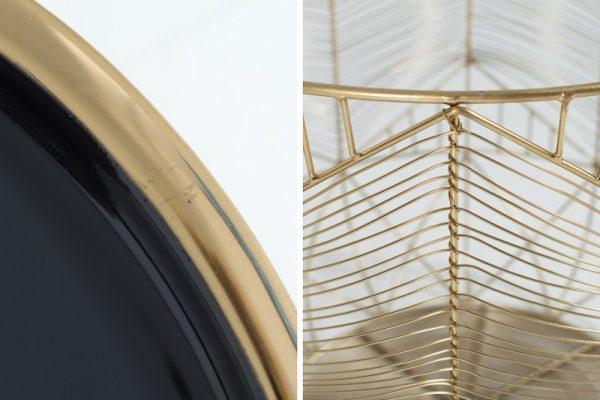 Konferenčný stolík Storage 42cm zlatá sivá