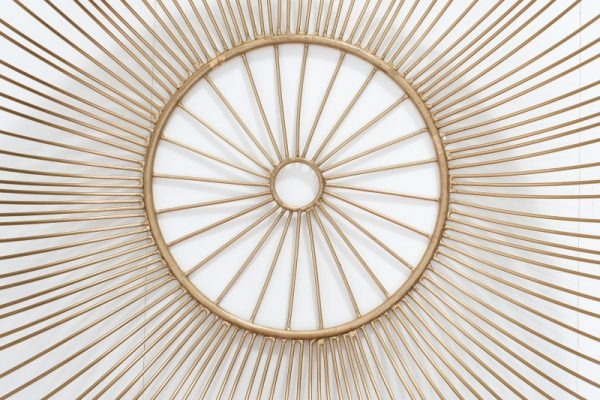 Konferenčný stolík Storage 51cm zlatá biela