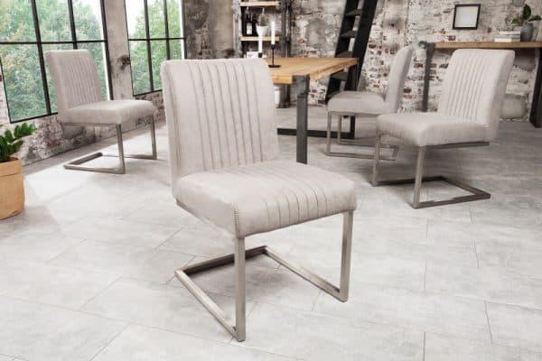 Stolička Big Aston stone sivá
