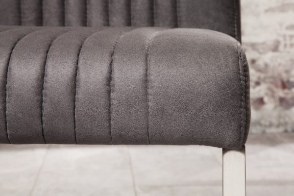 Stolička Big Aston vintage sivá