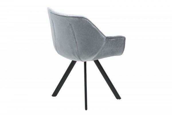 Stolička The Dutch Comfort zamat sivá