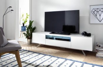 TV-stolík Lenia 185cm biela LED