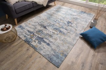 Teppich Abstrakt 240x160cm blau