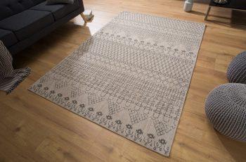 Teppich Berber 240x160cm béžová čierna