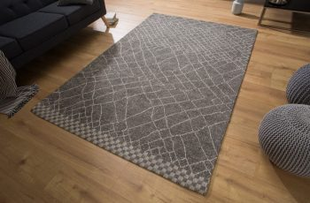 Teppich Berber 240x160cm čierna béžová