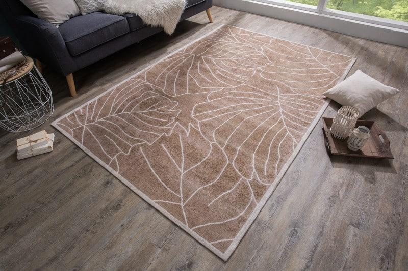 Teppich Leaves 240x165cm hnedá