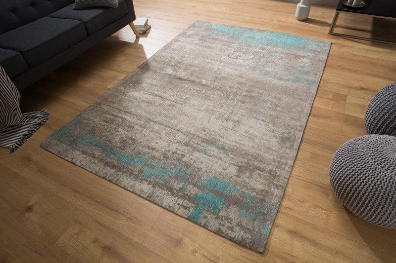 Teppich Modern Art 240x160cm greige blau
