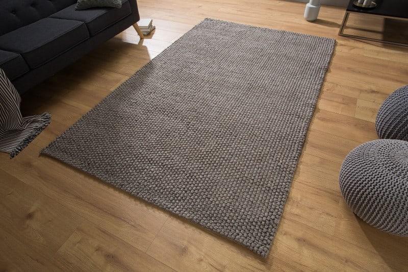 Teppich Wool 250x155cm antracit