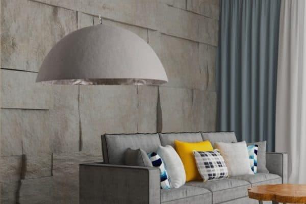 Závesná lampa Glow betón strieborná 70cm