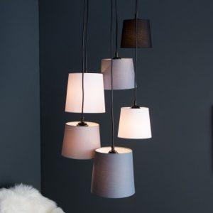 Závesná lampa Levels IV 6 tienidloe