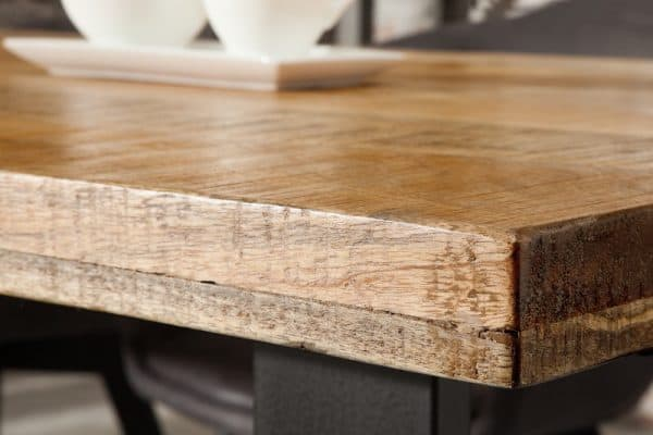 Drevený jedálenský stôl Iron Craft 90 x 180 cm – 45 mm »