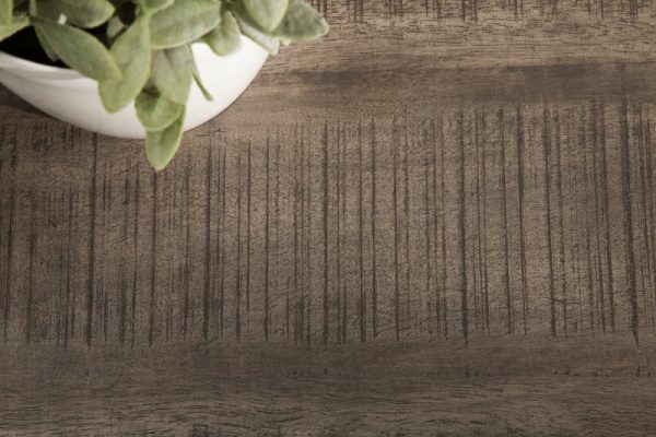Sivý drevený jedálenský stôl Iron Craft 90 x 200 cm – 45 mm »