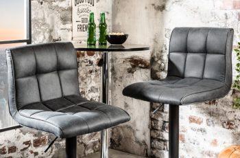 Barová stolička Modena vintage sivá