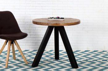 Jedálenský stôl Iron Craft 80cm rund Mango