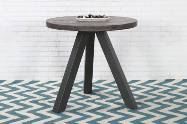 Jedálenský stôl Iron Craft 80cm rund Mango sivá
