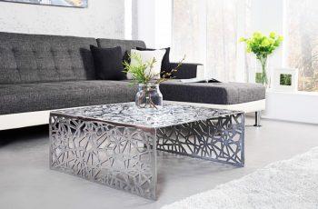 Konferenčný stolík Abstract 75cm strieborná