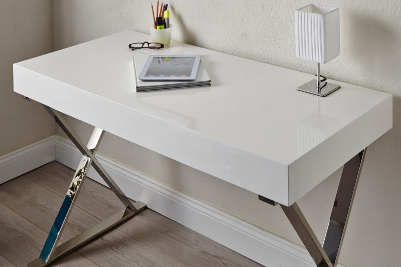 8f46a64675ec Biely písací stôl Grace 50 x 100 cm - 80 mm » » iKuchyne ESHOP s ...