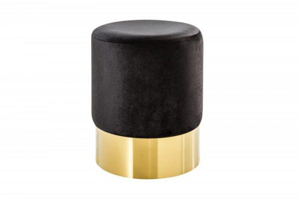 Taburet Modern Barock 35cm čiernozlatá