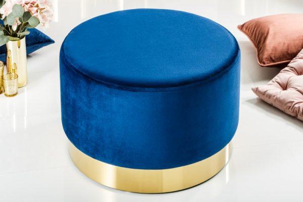 Taburet Modern Barock 55cm blau zlatá