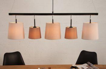 Závesná lampa Levels 100cm biela béžová hnedá
